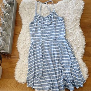 Abercrombie Kids blue stripe tank dress size 13/14